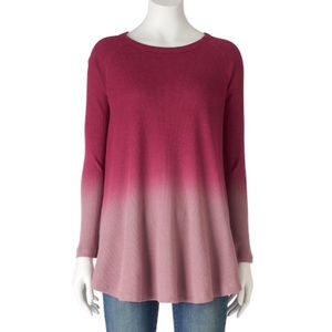 Olivia Sky | Pink Ombré Long Sleeve Thermal